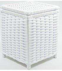 lixeira  / papeleiro  lavabo e escritã³rio  fibra sintetica 20x20x25  - branco - branco - dafiti