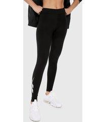 leggings negro-blanco reebok classics classics vesctor