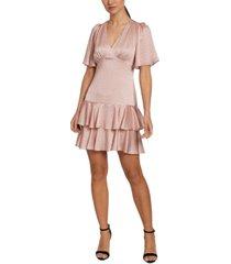 laundry by shelli segal puff-sleeve ruffled sheath dress
