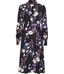 vintage drape v-neck dress knälång klänning multi/mönstrad by ti mo