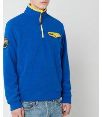 polo ralph lauren men's sportsman half zip fleece sweatshirt - sapphire star - m