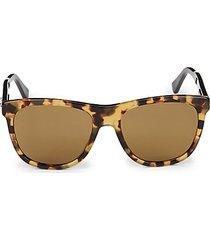 faux tortoiseshell 55mm square sunglasses