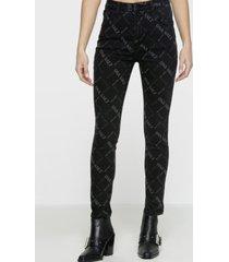 jeans legging logo negro ona saez