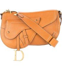 christian dior pre-owned saddle shoulder bag - brown