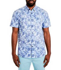 tallia men's paisley floral short sleeve shirt
