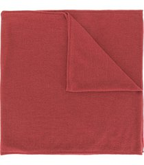 colombo fine knit cashmere scarf - red