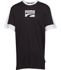 rebel block tee t-shirts short-sleeved svart puma