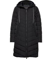 down coat gevoerde lange jas zwart ilse jacobsen