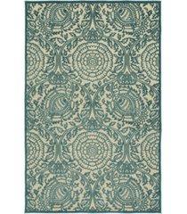 "kaleen a breath of fresh air fsr102-17 blue 2'1"" x 4' area rug"