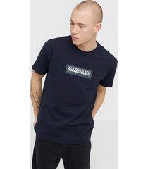 napapijri sase ss 1 t-shirts & linnen blue marine
