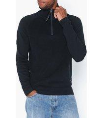 jack & jones jorklover knit high neck tröjor mörk blå