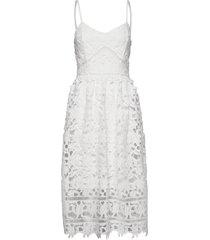 vizanna midi dress/dc knälång klänning vit vila