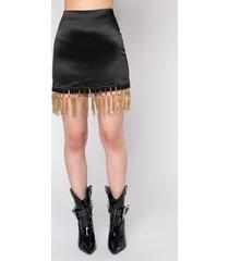 akira sissy stretchy satin mini skirt