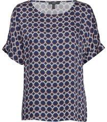 blouses woven t-shirts & tops short-sleeved blå esprit collection