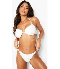 gerecycled tanga bikini broekje, white