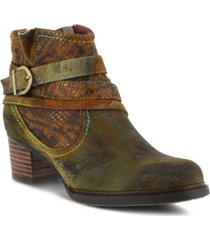 l'artiste women's shazzam hand-painted booties women's shoes