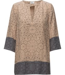 day electric blouse lange mouwen beige day birger et mikkelsen