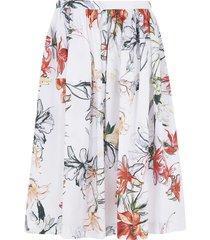 alexander mcqueen floral print mid-length skirt
