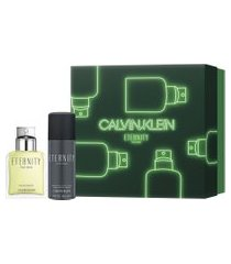 kit calvin klein eternity for men perfume edp 100ml + deo colônia 150ml masculino - 1 unidade único