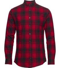 check shirt skjorta casual röd denim project