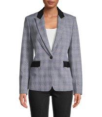 rag & bone women's plaid-print blazer - black multi plaid - size 2