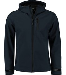 jas hooded softshell donkerblauw