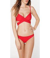 calzedonia indonesia padded criss-cross straps triangle bikini top woman black size 2