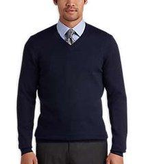 joseph abboud indigo v-neck merino wool sweater