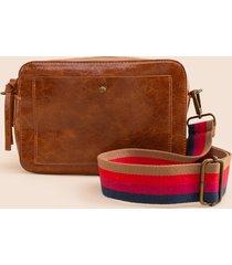 women's esther crossbody handbag in tan by francesca's - size: one size