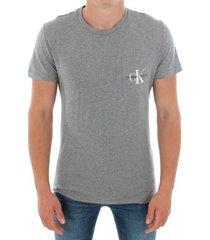 t-shirt korte mouw calvin klein jeans j30j311023 039 light grey melange