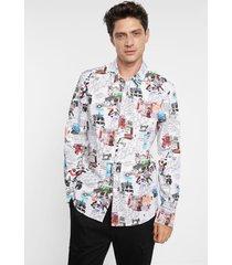 arty slim shirt 100% cotton - white - xl
