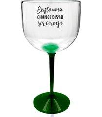 4 taã§as gin transparente com base verde personalizada para live - transparente - dafiti