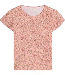 camiseta mujer flores rosa