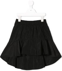 andorine ruffled skirt - black