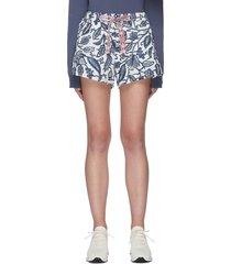 'batik efrem' botanical print drawstring shorts