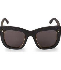 48mm croco-embossed square sunglasses