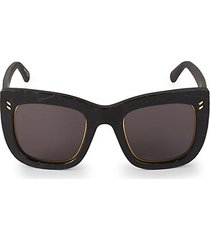 48mm croco-embossed square sunglasses