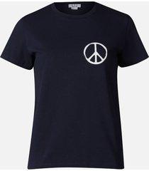 a.p.c. women's peace t-shirt - dark navy - l