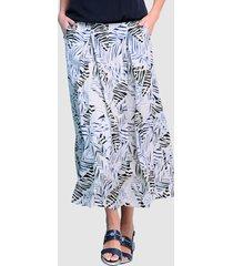 kjol alba moda beige::blå::svart