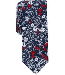 bar iii men's thalman slim floral tie, created for macy's