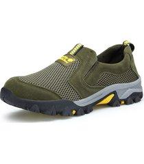 sneakers casual outdoor resistenti allo scivolamento da uomo traspiranti