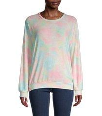 workshop women's tie-dye sweatshirt - rainbow combo - size m