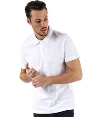 bench mens classic cotton polo shirt size xl in white