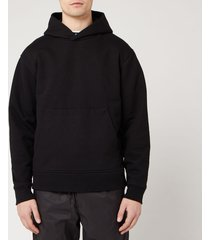 acne studios men's classic fit hooded sweatshirt - black - xl