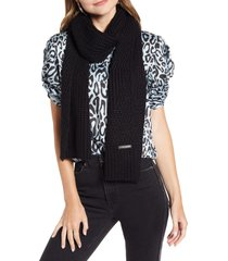 women's rebecca minkoff traveling rib scarf, size one size - black