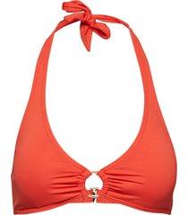 halter top bikinitop röd michael kors swimwear