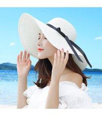 sombrero de verano forma de arco-blanco