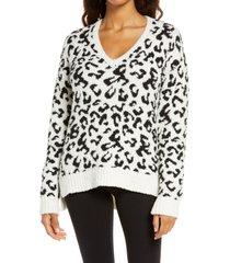 women's ugg cecilia v-neck sweater, size small - white