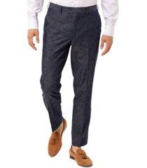 tallia men's slim-fit navy paisley suit separate pants