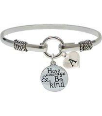 bracelet custom have courage and be kind silver only jewelry initial